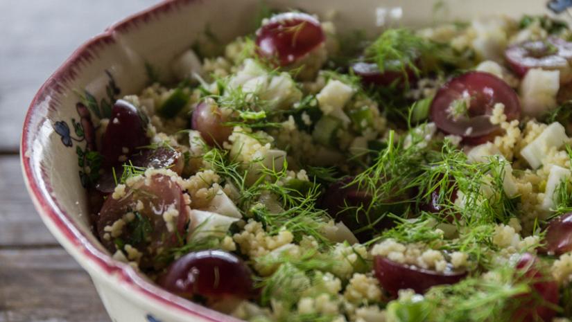 Couscoussalade met venkel en druiven